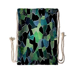 Wallpaper Background With Lighted Pattern Drawstring Bag (Small)