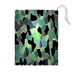 Wallpaper Background With Lighted Pattern Drawstring Pouches (extra Large)