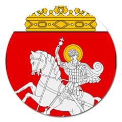 Lesser Coat of Arms of Georgia Magnet 5  (Round)