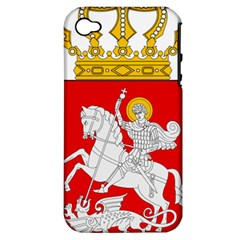 Lesser Coat of Arms of Georgia Apple iPhone 4/4S Hardshell Case (PC+Silicone)
