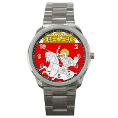 Lesser Coat of Arms of Georgia Sport Metal Watch