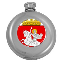 Lesser Coat of Arms of Georgia Round Hip Flask (5 oz)