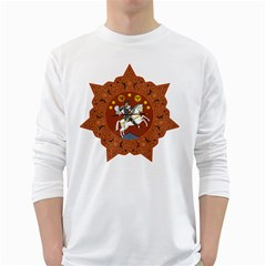 Coat of Arms of The Democratic Republic of Georgia (1918-1921, 1990-2004) White Long Sleeve T-Shirts