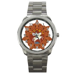 Coat of Arms of The Democratic Republic of Georgia (1918-1921, 1990-2004) Sport Metal Watch