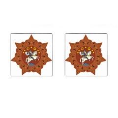Coat of Arms of The Democratic Republic of Georgia (1918-1921, 1990-2004) Cufflinks (Square)