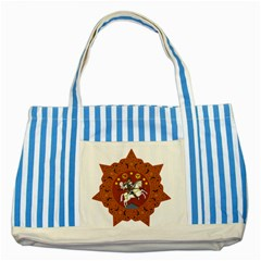 Coat of Arms of The Democratic Republic of Georgia (1918-1921, 1990-2004) Striped Blue Tote Bag