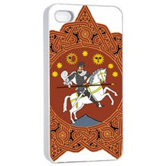 Coat of Arms of The Democratic Republic of Georgia (1918-1921, 1990-2004) Apple iPhone 4/4s Seamless Case (White)