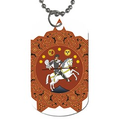 Coat of Arms of Republic of Georgia (1918-1921, 1990-2004) Dog Tag (Two Sides)