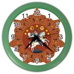 Coat of Arms of Republic of Georgia (1918-1921, 1990-2004) Color Wall Clocks