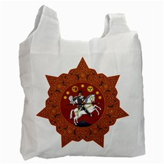 Coat of Arms of Republic of Georgia (1918-1921, 1990-2004) Recycle Bag (Two Side)