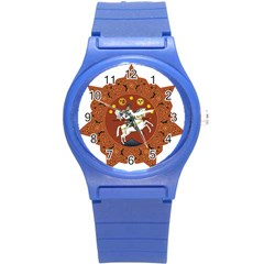 Coat of Arms of Republic of Georgia (1918-1921, 1990-2004) Round Plastic Sport Watch (S)