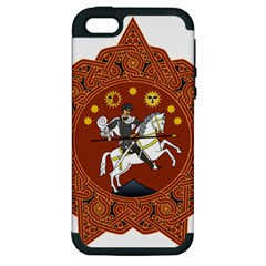 Coat of Arms of Republic of Georgia (1918-1921, 1990-2004) Apple iPhone 5 Hardshell Case (PC+Silicone)