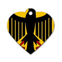 Coat of Arms of Germany Dog Tag Heart (One Side)