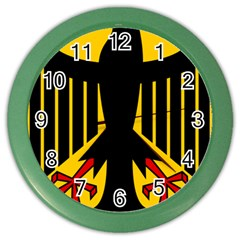 Coat of Arms of Germany Color Wall Clocks