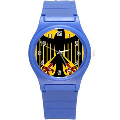 Coat of Arms of Germany Round Plastic Sport Watch (S)
