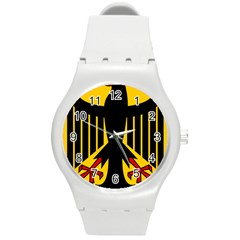 Coat Of Arms Of Germany Round Plastic Sport Watch (m)