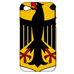 Coat of Arms of Germany Apple iPhone 4/4S Hardshell Case (PC+Silicone)