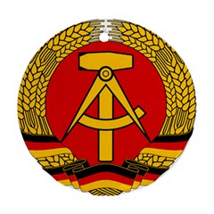 National Emblem of East Germany  Round Ornament (Two Sides)