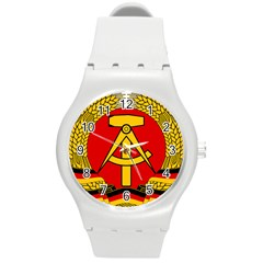 National Emblem of East Germany  Round Plastic Sport Watch (M)