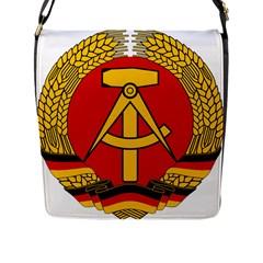 National Emblem of East Germany  Flap Messenger Bag (L)