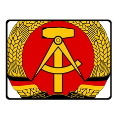 National Emblem of East Germany  Double Sided Fleece Blanket (Small)
