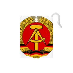 National Emblem of East Germany  Drawstring Pouches (Small)