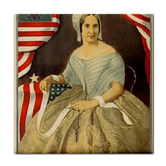 Betsy Ross Author of The First American Flag and Seal Patriotic USA Vintage Portrait Tile Coasters