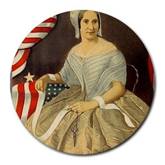 Betsy Ross Author of The First American Flag and Seal Patriotic USA Vintage Portrait Round Mousepads