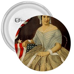 Betsy Ross Author of The First American Flag and Seal Patriotic USA Vintage Portrait 3  Buttons