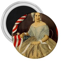 Betsy Ross Author of The First American Flag and Seal Patriotic USA Vintage Portrait 3  Magnets