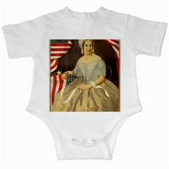 Betsy Ross Author of The First American Flag and Seal Patriotic USA Vintage Portrait Infant Creepers