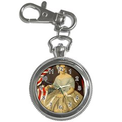 Betsy Ross Author of The First American Flag and Seal Patriotic USA Vintage Portrait Key Chain Watches
