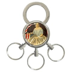 Betsy Ross Author of The First American Flag and Seal Patriotic USA Vintage Portrait 3-Ring Key Chains
