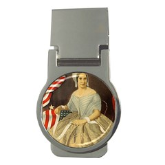 Betsy Ross Author of The First American Flag and Seal Patriotic USA Vintage Portrait Money Clips (Round)