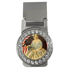 Betsy Ross Author of The First American Flag and Seal Patriotic USA Vintage Portrait Money Clips (CZ)