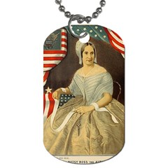 Betsy Ross Author of The First American Flag and Seal Patriotic USA Vintage Portrait Dog Tag (One Side)