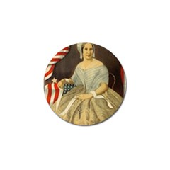 Betsy Ross Author of The First American Flag and Seal Patriotic USA Vintage Portrait Golf Ball Marker (4 pack)