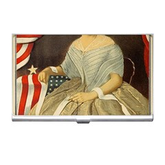 Betsy Ross Author of The First American Flag and Seal Patriotic USA Vintage Portrait Business Card Holders