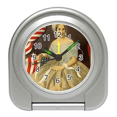 Betsy Ross Author of The First American Flag and Seal Patriotic USA Vintage Portrait Travel Alarm Clocks