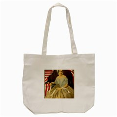 Betsy Ross Author of The First American Flag and Seal Patriotic USA Vintage Portrait Tote Bag (Cream)