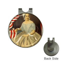 Betsy Ross Author of The First American Flag and Seal Patriotic USA Vintage Portrait Hat Clips with Golf Markers