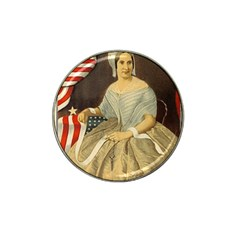 Betsy Ross Author of The First American Flag and Seal Patriotic USA Vintage Portrait Hat Clip Ball Marker (10 pack)