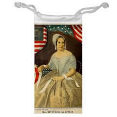 Betsy Ross Author of The First American Flag and Seal Patriotic USA Vintage Portrait Jewelry Bag