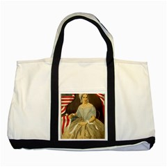 Betsy Ross Author of The First American Flag and Seal Patriotic USA Vintage Portrait Two Tone Tote Bag