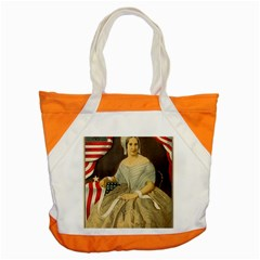 Betsy Ross Author of The First American Flag and Seal Patriotic USA Vintage Portrait Accent Tote Bag