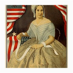 Betsy Ross Author of The First American Flag and Seal Patriotic USA Vintage Portrait Medium Glasses Cloth