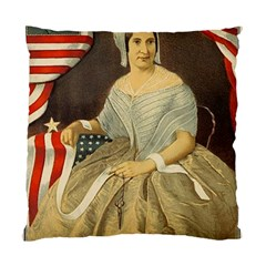 Betsy Ross Author of The First American Flag and Seal Patriotic USA Vintage Portrait Standard Cushion Case (Two Sides)