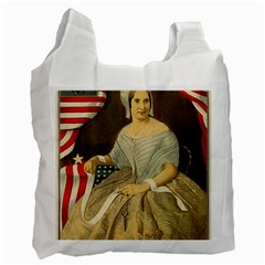 Betsy Ross Author of The First American Flag and Seal Patriotic USA Vintage Portrait Recycle Bag (Two Side)