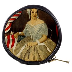 Betsy Ross Author of The First American Flag and Seal Patriotic USA Vintage Portrait Mini Makeup Bags