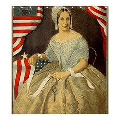 Betsy Ross Author of The First American Flag and Seal Patriotic USA Vintage Portrait Shower Curtain 66  x 72  (Large)